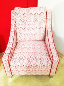 printed chair red