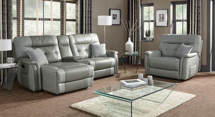 Lush 3 Seater Power Recliner Sofa With LHF Chaise